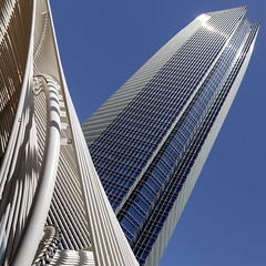 Devon Energy Tower (GER.LA - PHOTO WORKS) Tags: oklahoma devonenerytower architecture usa blue wolkenkratzer gebude architektur diagonale geometrisch skyline abstrakt gebudestruktur infrastruktur gebudekomplex turm linien