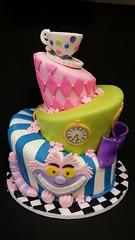 Alice in Wonderland (dragosisters) Tags: teaparty cheshirecake cake aliceinwonderland topsyturvy