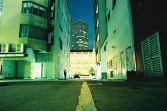 Loner (OzGFK) Tags: asia singapore cityhall street streetphotography people night longexposure film analog raffleshotel swissotel swisshotel buildings architecture cbd city urban kodakultra400
