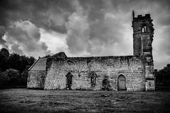 Church (jumpandwave) Tags: wharram percy deserted medieval village yorkshire mono sky clouds church canon jumpandwave