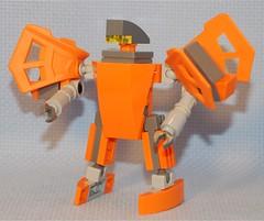 Orange Knight (Mantis.King) Tags: lego scifi futuristic mecha mech moc microscale mechaton mfz butterflyknights mf0 mobileframezero