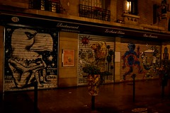 Paris - Street Art - (Smoke-Head Photography) Tags: street light urban paris france art saint night dark graffiti restaurant cafe nikon paint darkness tag sombre blaise nuit nocturne painture urbain artiste bistrot graphe 75020 lumire troquet d5500
