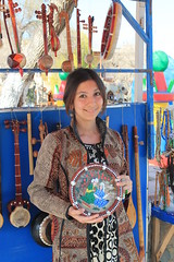 Handicraft seller, Nowruz, Bukhara, Uzbekistan