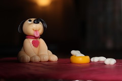 My sweet little fondant puppy (chr_sa) Tags: puppy hund fondant modellieren