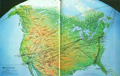 TWA domestic routes, 1969 (airbus777) Tags: usa 1969 domestic network twa tbt routemap transworldairlines throwbackthursday