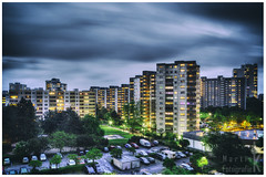 Rage of clouds (Krueger_Martin) Tags: light sky berlin architecture clouds lights licht colorful himmel wolken wideangle rage 24mm farbig hdr bunt wetter langzeitbelichtung weitwinkel unwetter photomatix gropiusstadt wüten festbrennweite primelense canoneos5dmarkii canonef24mmf14lii canoneos5dmark2