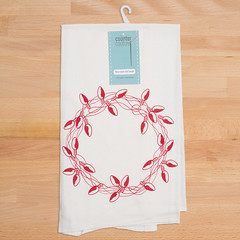 WreathTowel (Counter Couture) Tags: handmade dishcloth gift ecofriendly teatowel floursack screenprinted kitchentowels