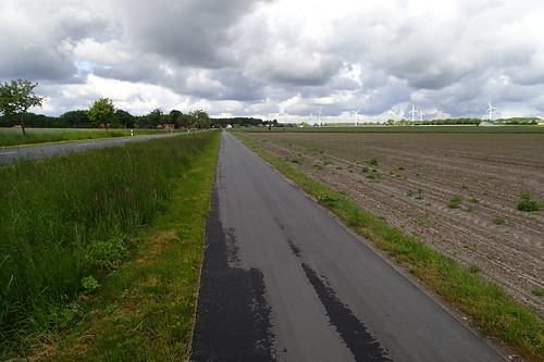 Segregated cycleway near Sülze