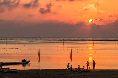 (Digital_trance) Tags: sunset sea cloud moon bird nature windmill sunrise landscape star ship venus taiwan clam  seafood oyster jupiter     lanscape bif           ocea