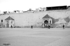 Morning in Mekns (Morocco) (Mara Blanco Photography) Tags: life plaza people bw art byn blanco photography monocromo photo nikon arte negro perspective paisaje personas morocco vida perspectiva marruecos zoco fotografa mekns d5100