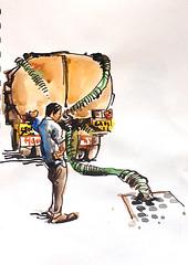 Tanker. Panjim, Goa, India (suhita1) Tags: india goa tanker panjim suhita urbansketch urbansketcher