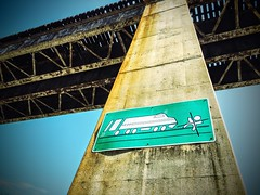 POTD 150 (Webtraverser) Tags: railroad nova sign bikeride warningsign trainbridge lakeaccotink accotink infograph overpasss picturesoftheday potd2015 365pictures2015