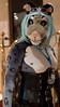 Leela 1 (Harlequeen) Tags: snowleopard confuzzled furcon leathercorset leera confuzzled2015
