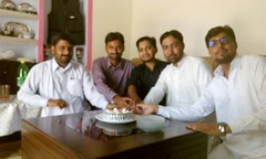 Happy Birth Day - Irfan Kayani - Incharge Guldasta - Weekly Pindi Post (3) (Dhakala Village) Tags: سالگرہ مبارک happybirthday celebration mibrahim ibrahim ibrahimdhakala irfankayani shahzadraza mirzasulman firdosmehmood abduljabbar kake smilingface gathering home
