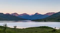 Arrochar Alps (dalejckelly) Tags: summer mountain lake mountains water sunrise canon landscape scotland outdoor loch arrochar lochan arklet