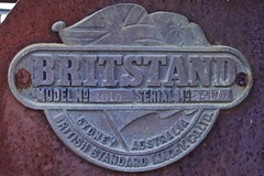 Britstand pull behind grader model no. 1010 nameplate (outback traveller) Tags: historic seq