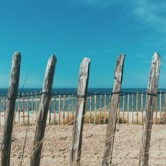 Dreams of Yesterday (toletoletole (www.levold.de/photosphere)) Tags: zaun zeeland meer holz sky himmel beveland wood fence sea niederlande netherlands iphone