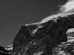 Dufourspitze (RadarOReilly) Tags: landschaft landscape gebirge mountainrange walliseralpen schweiz sw schwarzweis bw blackwhite