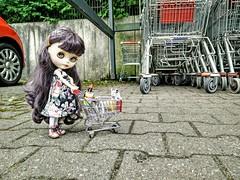 River beim Einkauf