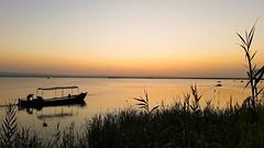 Albufera de Valencia VII (Quique CV) Tags: albuferadevalencia albufera verano atardecer lago barca sol cielo valencia parquenatural sky lake summer sunset 2016