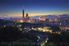 sunset view of Taipei cityscape 2016  (*dans) Tags: taipei101 101 taipei taiwan skyscraper 101  sunset dusk twilight twilighttaipei twilighttaipei101 skyline taipeiskyline  cityscape           twtc taipeiworldtradecenter  whotel             taipeidomecomplex taipeidome   formasa  china