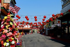 Los Angeles China Town (Prayitno / Thank you for (12 millions +) view) Tags: china california ca red lamp lights la town los downtown day time angeles outdoor down lampion lampoon konomark