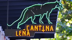 Cantina Lena (Laurence's Pictures) Tags: seattle chihuly tourism glass sign gardens see washington neon place dale market space things tourist lena needle pike monorail cantina