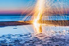 DSC_0179 (Patrick Herzberg) Tags: longexposure light holland dutch strand licht zonsondergang nikon nederland thenetherlands avond noordwijk weerspiegeling steelwool avondfotografie langesluitertijd staalwol d5200