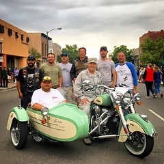 Air Force Major General H. Michael Edwards with members of our 2016 Veterans Charity Ride to Sturgis during the Denver Art Walk where he delivered a Colorado Governors proclamation calling for August 5th to be Veterans Charity Ride day in the state!!! #vc