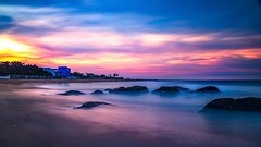 Kovalam (rameshsar) Tags: 1655 koavalam ongexposure slowspeed xt1 colors fireworks clouds dusk bluehour art painting pastel