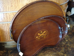 """ASSORTED GEORGIAN AND 19TH CENTURY MAHOGANY TRAYS. • <a style=""""font-size:0.8em;"""" href=""""http://www.flickr.com/photos/51721355@N02/28560340321/"""" target=""""_blank"""">View on Flickr</a>"""