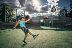 Stefan 019 - Boy playing Football (Soccer) (IP Maesstro) Tags: boy kid child football soccer bal sport game