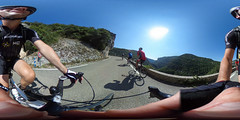 360 image: me and friends near Mont Ventoux (PaulHoo) Tags: 360 sferical bike cycling france mont ventoux sky action active sports selfie road mountain racebike recreation training