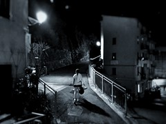 Noir nights V - iPhone (Jim Nix / Nomadic Pursuits) Tags: monochrome blackandwhite cinqueterre streetscene evening night riomaggiore italy europe travel snapseed iphone