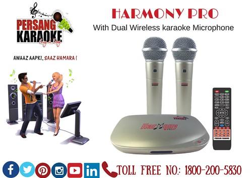 Harmony Pro (With Dual Wireless karaoke Microphone)
