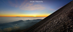 summit quest (azrudin) Tags: mountain mountrinjani rinjani lombok volcano sunrise summit campsite camping hiking sky graduatedfilter mount lake crater