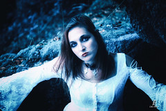 Romantic Gothic Women (FgKs By DelocK OFF/ON) Tags: gothic romanticgothic woman womanportrait portrait cold blue blueeyes forest claudedelockphotographie claudedelock canon bretagne