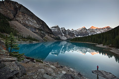 Moraine Lake at Sunrise (RH Miller) Tags: rhmiller reedmiller landscape lake water mountains morainelake banffnationalpark alberta canada reflection