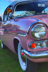 Pink Vintage Vauxhall (Nick Fewings 4.5 Million Views) Tags: shine motor transport mirrors headlight bumper chrome vauxhall vintage car pink