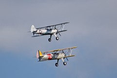 Neck and Neck (brev99) Tags: tamron70300vc d7100 airplanes duo flight flying perfecteffects10 ononesoftware clouds