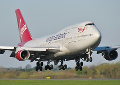 G-VROY (AnDrEwMHoLdEn) Tags: manchester airport virgin 747 virginatlantic manchesterairport egcc 05r