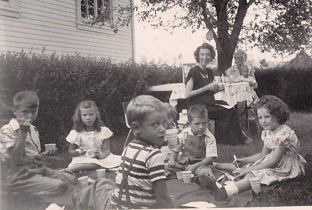 Ed at a birthday party - Denver, Jul 1950