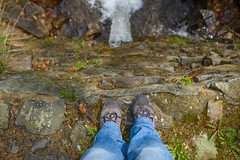 One step (Michal Soukup) Tags: above trip water forest fun legs bokeh stones smooth pointofview step foots nikond600 nik
