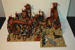 Super-Extended Orc forge (Becker_Sakoulas) Tags: lego lotr sword forge sheild orc saruman urukhai warg