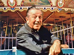 Walt Disney at the Griffith Park Merry-Go-Round