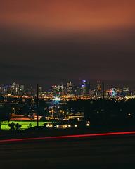 cityglow (lucidddreamin') Tags: city longexposure 50mm cityscape melbourne nighttime citylights lighttrails bluehour cityview lighttrail cityglow coldnight throughthefence lightglow longexposureoftheday