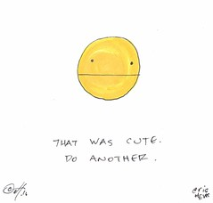 that was cute - by eric Hews  2016 (eric Hews) Tags: copyright illustration painting fun funny eric comic drawing humor cartoon philosophy strip haha toon behavior society psychology 2016 hews spbn erichews ennuizle acrossthepond smallplanetbenice 2016erichews