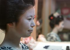 16 Years old maiko called chikasaya in her geisha house, Kansai region, Kyoto, Japan (Eric Lafforgue) Tags: woman white beautiful beauty face japan horizontal closeup female hair asian japanese clothing eyes kyoto colorful asia pretty feminine painted young culture makeup grace indoors teen maiko geisha teenager kimono gion tradition oriental youngadult solitary hairstyle youngwoman apprentice oneperson elaborate kanzashi 1617years oneyoungwomanonly waistup 1people kansairegion japaneseethnicity colourpicture japan161689 chikasaya komayaokiya