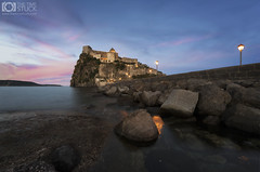 The Rock (Giuseppe Sapori) Tags: castello aragonese ischia isola island rock rocks lights shadows dusk details seascape landscape sky clouds