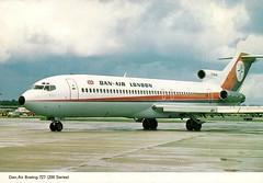 Postcard: DAN-AIR Boeing 727-200 (tubular60) Tags: boeing727 danair postcard airline london